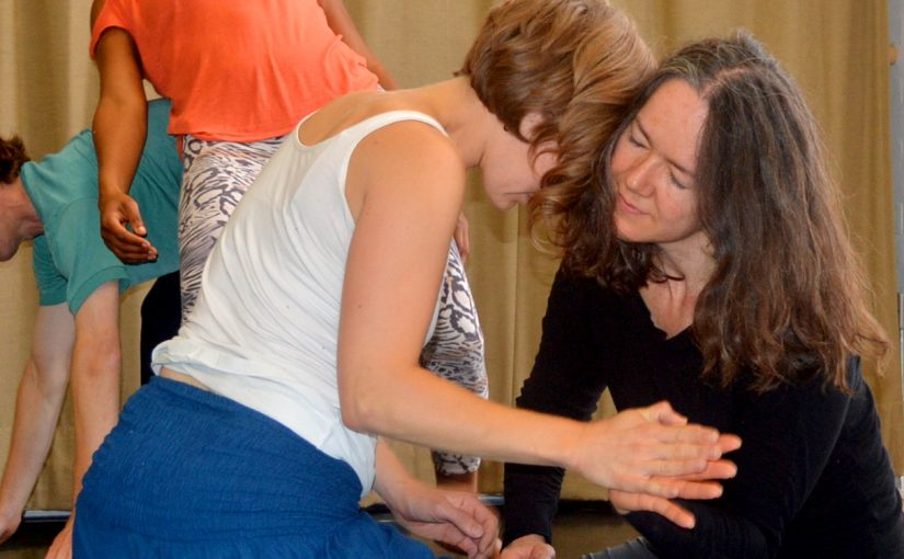 Ana Barbour (right) at Oxford Contact Dance, Sept 2014