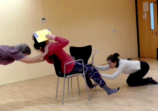 Three Dancers, Two Chairs (Library Dance workshop)