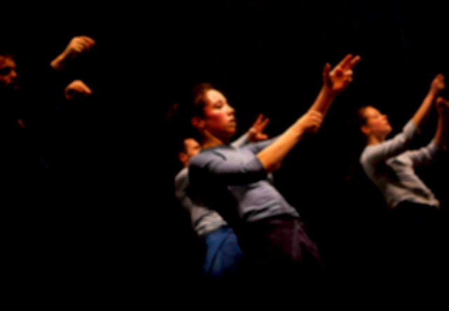 At the end we begin. Image taken from flyer for the performance.